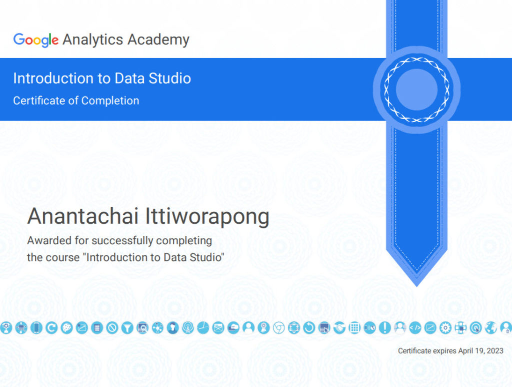 certificate googledatastudio