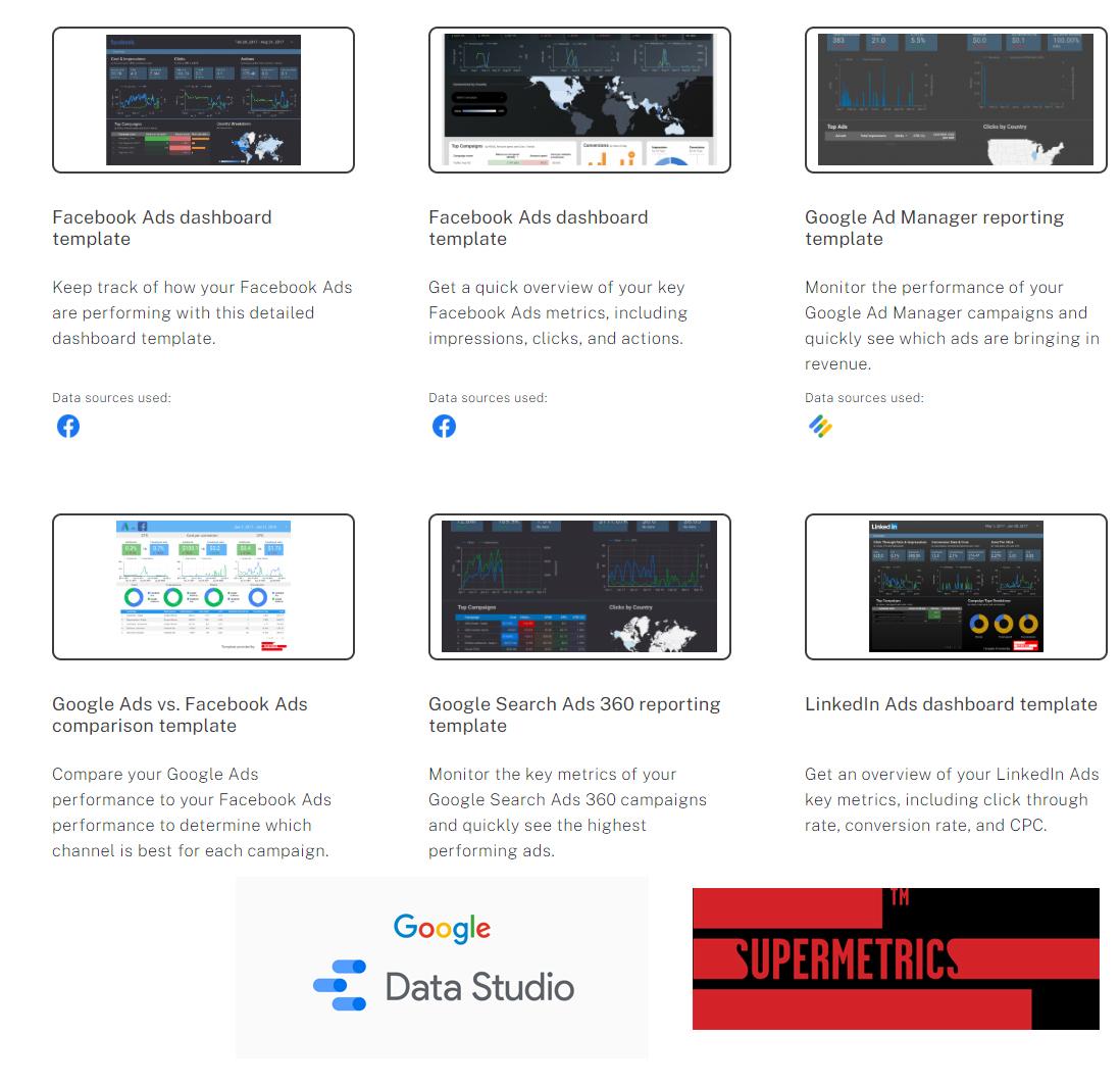Template Gallery ใน Google Data Studio