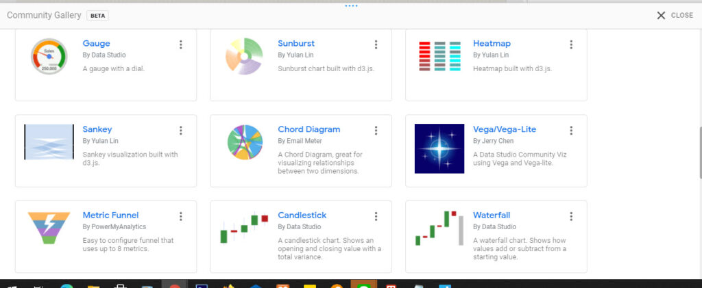 Chart ของ Community Visualisations (Beta)