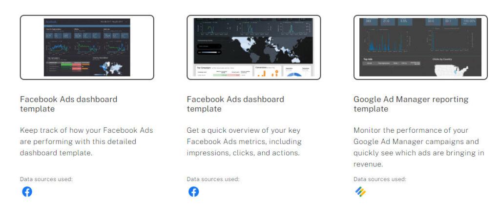 Tamplate Google data studio