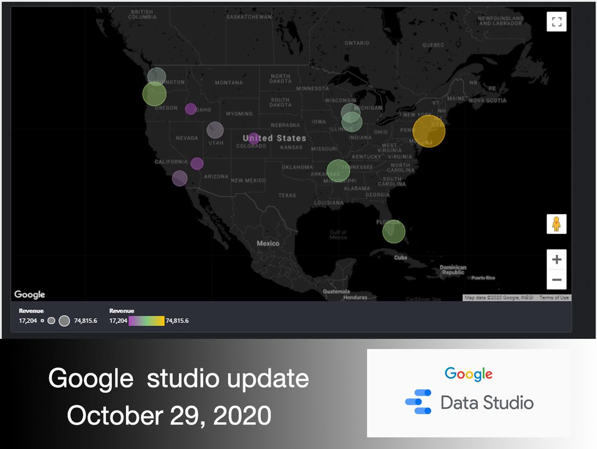 Google Studio product update 29 Oct 2020